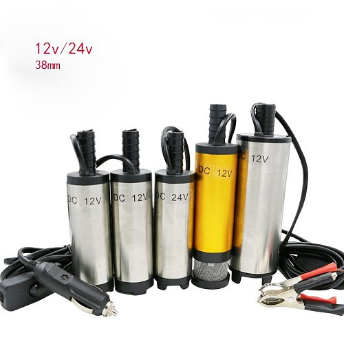 DC 12V/24V  electric Submersible Pump 38mm Water Oil Diesel Fuel Transfer Refueling Tool