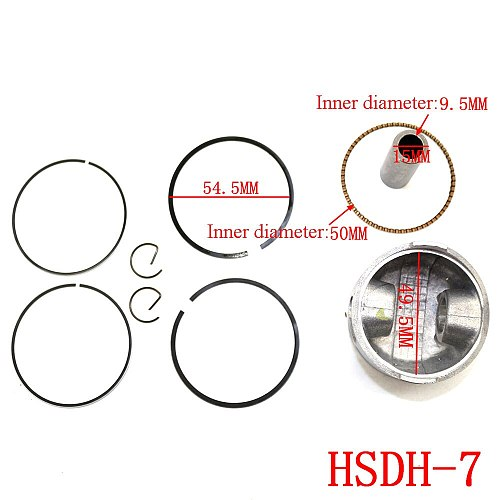 Motorcycle 39mm High Quality Piston Kit Ring For GY6 50cc 139qmb TANK ROKETA JALON STRADA TaoTao Peace Accessories New