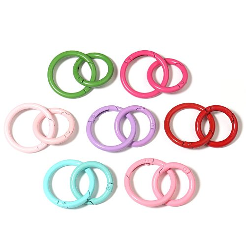 SAUVOO 5-10pcs/lot 14 Colors Spray Paint Keyring Metal Split Ring Candy Color Close Jump Rings & Split Ring For DIY Accessories