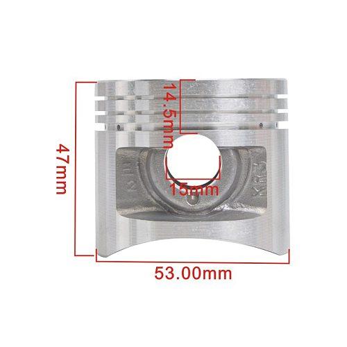 53mm 53.25mm 53.5mm 53.75mm 54mm Motorcycle Piston and Piston Ring Kit For Honda CA250 CM250 STD Oversize +0.25 +0.5 +0.75 +1.0
