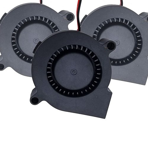 Small Fan For 3D Printer 3D Printer Parts 5015 Blower Fan 5015 Air Blower 12V 24V Ultra-quiet Oil Bearing about 7500 RPM Turbo