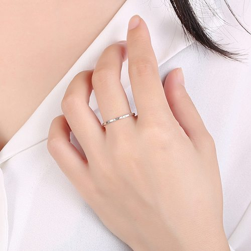 Real 100% 925 Sterling Silver Simple Rice Word thin Ring for Women Luxury Sterling Silver Fine Jewelry Finger Rings Gift
