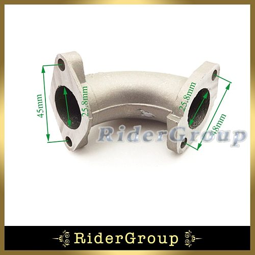 56-2 25mm Manifold Intake Pipe For Chinese 110cc 125cc 140cc Engine CRF 50 SSR KLX Thumpstar Pit Dirt Bike Motorcycle