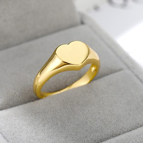 Stainless Steel Heart Rings For Women Girls Gold Silver Color Engagement Wedding Ring Cute Female Finger Jewelry Bague Femme
