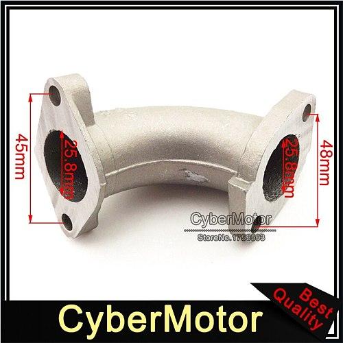 Motorcycle 25mm Manifold Carburetor Intake Pipe For Chinese 110cc 125cc 140cc Engine CRF 50 SSR KLX TTR Thumpstar Pit Dirt Bike
