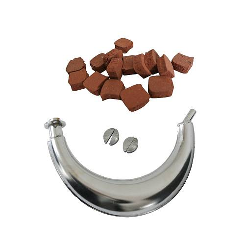Half Moon Muffle Exhaust Pipe&15xSquare Clutch Pads For 66 /80cc Motorized Bike