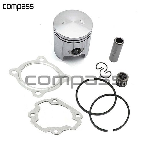 Motorcycle 47mm Piston Kit with Gasket Ring 10mm 12mm Pin For Scooter JOG 50cc 70cc 2 stroke engine yamaha minarelli 1pe40qmb