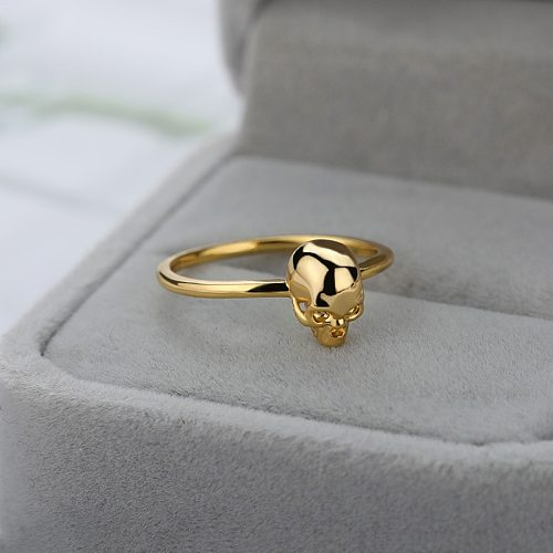 Stainless Steel Skull Rings For Women Men Gold Silver Color Male Female Skeleton Ring Punk Party Finger Jewelry Bague Femme 2021