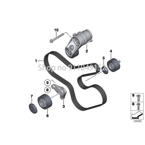 CAR belt drive generator / air conditioner / 2012-bm wF07 GT 535I F10 535I E71 X6 35IX N55 E70 LCI X5 35IX ribbed V-belt