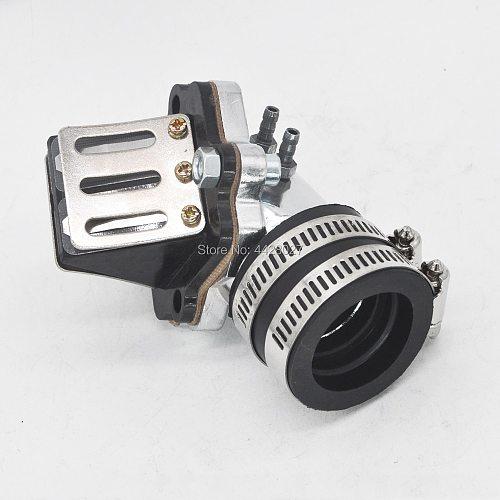 Performance Intake Manifold with Reed Valve for 2 stroke scooters moped Minarelli JOG 50 90 3KJ 4DM 1E40QMB 1E50QMF Vento ZIP