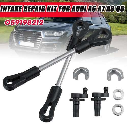 3/10 Pcs 059198212 Air Intake Manifold Suction Pipe Swirl Flap Repair Kit For Audi A6 A7 A8 Q5 Q7 2.7 3.0 TDI For VW/Touareg