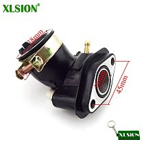 XLSION Intake Manifold Inlet Pipe For SUNL Baotian Znen Jmstar Chinese Moped Scooter GY6 50cc Engine Carburetor Carb