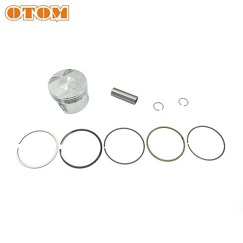 OTOM Piston Ring Pin Clamp Kit Crankshaft Gasket Set For HONDA AX-1 NX250 Chainsaw Part Accessories Dirt Pit Bike ATV Motorcycle