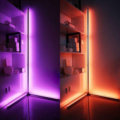 App Rgb Led Floor Lamp Spliced 150 CM Length Remote Colorful Floor Lights For Living Bedroom Room Decor Standing Light