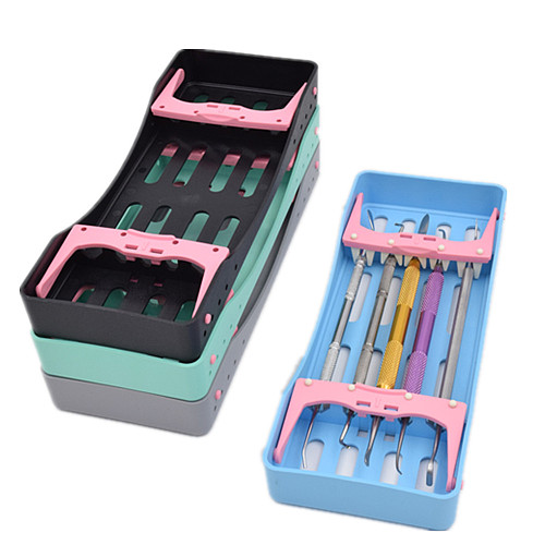 Dental New Arrival 5 Holders 135℃ Sterilization Box Autoclavable Instrument