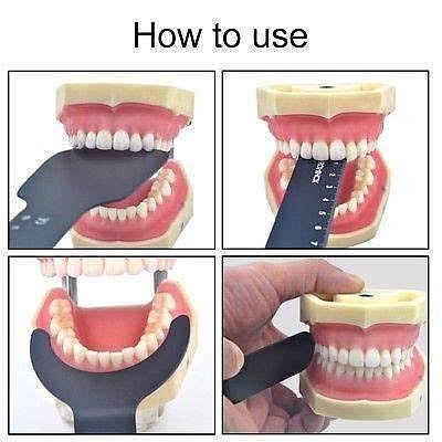 6pcs/set Durable Dental Photo Contrast Board Photography Black Background Board Palatal Contraster Board Oral Cheek