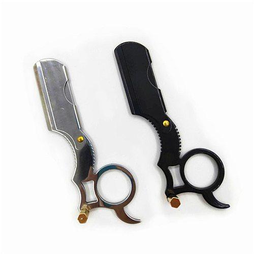 Barber Razor Haircut Beard Eyebrow Shaving Tool Manual Depilation Hairdresser Cutter Holder Oil Head Straight Edge Steel