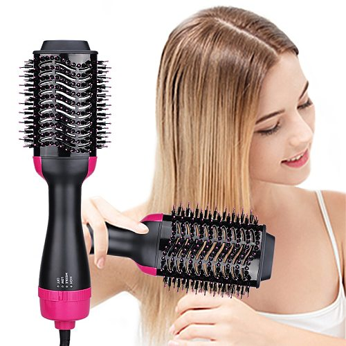 3 in 1 Hair Dryer Brush One Step Hot Air Brush Volumizer Blow Straightener Curler Blow Dryer Brush Hair Styler Comb