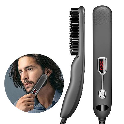 Beard Straightener Beard Comb Heating Multifunctional Hair Brush Beard Hot Air Comb LED Screen Beard Hair Straightener For Men