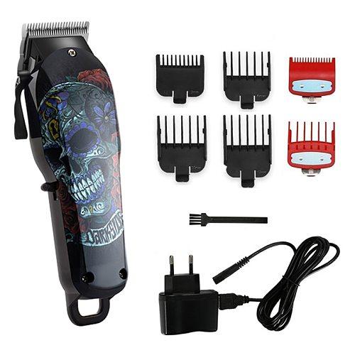 Wireless salon hair clipper professional hair trimmer men electric powerful motor hair cutting machine lithium battery 100v-240v