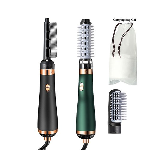 Hot Air Comb Brush Anion Hair Dryers Multifunctional Modeling Blow Dryer Brush Hair Electric Straight Hair/Curls Brushes Curler