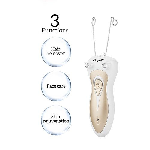 Electric Cotton Thread Epilator Lady Facial Hair Remover Rechargeable Pull Surface Device Painless Woman Depilation Defeatherer