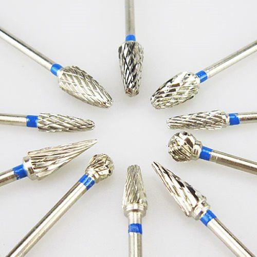 10pcs/box  Tungsten Steel Dental Carbide Burs Lab Burrs Tooth Drill Dental Lab Materials