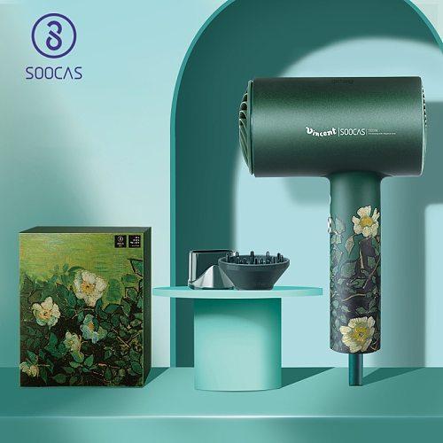 SOOCAS H5 Anion Hair Dryer 1800W Professional Blow Dryer Aluminum Alloy Powerful Electric Dryer Orginal Europe EU Plug Vangogh