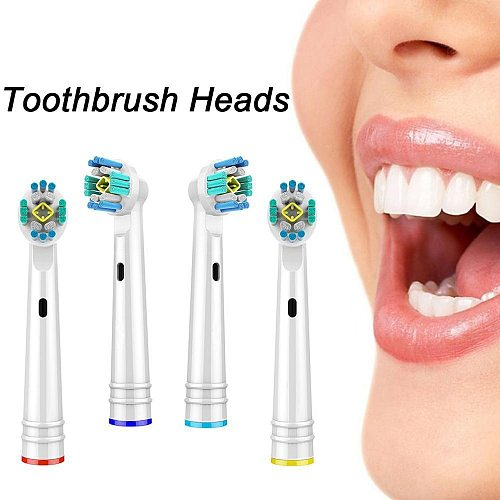 3D Whitening Electric Toothbrush Replacement Brush Heads For Braun Oral B Toothbrush Heads 4Pcs Toothbrush Head for Oralb