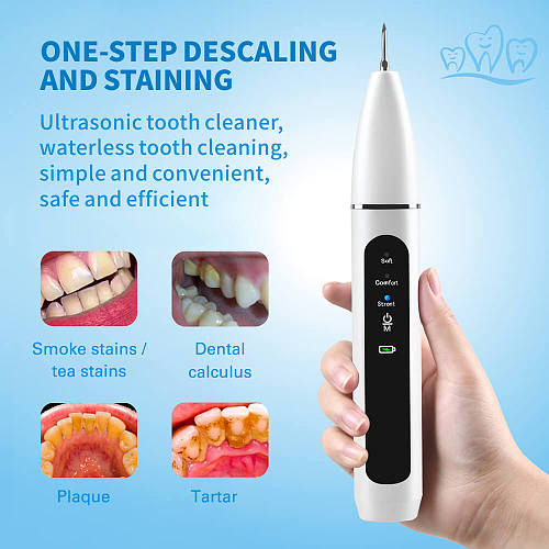 Home Ultrasonic Calculus Remover Dental Scaling Electric Portable Scaler Sonic Smoke Stains Tartar Plaque Teeth White