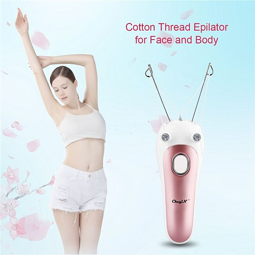 Women Facial Hair Remover Electric Cotton Thread Body Hair Remover Instant Defeather Epilator Lady Shaver Pull Surface Device 31
