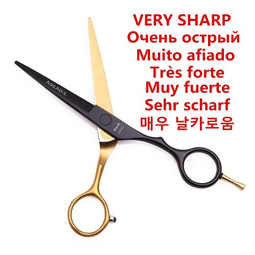 5.0 5.5 6.0 6.5 7.0'' Hair Scissors Professional Barber Scissors 440C Japanese Thinning Shears Hair Cutting Hairdressing A1029
