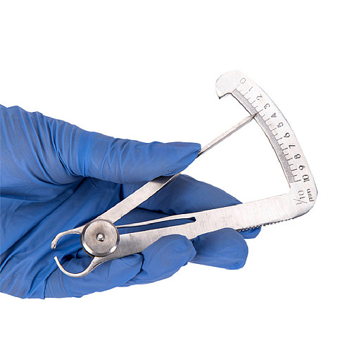 Dental Ruler Metal Gauge Oral Care Dentist Lab Surgical Thickness Autoclavable Triangle Caliper Stainless Steel Measuring Tools