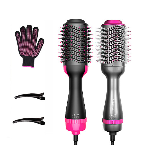 One Step Hair Dryer Volumize Hot Air Brush Hair Straightener Curler Comb Electric 3 IN 1Blow Dryer Brush Hair Hairdressing Tools
