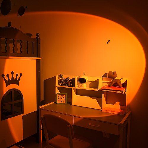 Modern LED Sunset Floor Lamp for Home Decoration,Atmosphere Stand Lamp Bedroom Living Room Colorful Floor Light Lighting