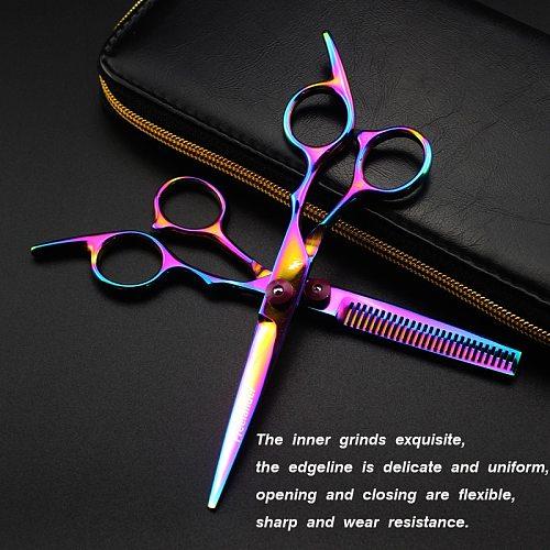 Professional 6 inch Hair Scissors Thinning Barber Cutting Hair Shears Scissor Tools Hairdressing Scissors