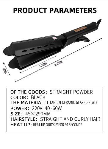 Hair Straightener Four-gear temperature adjustment Ceramic Tourmaline Ionic Flat Iron Hair Straightener For Women Widen panel