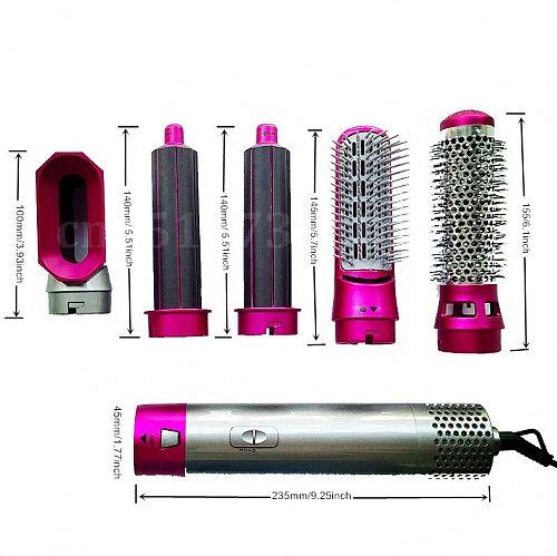 Electric Hair Dryer Blow Dryer Comb Rotating Hot Air Brush 5 In 1 Hairdryer Hair Blower Brush Hair Curler Curling Iron Styler