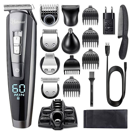 All in one wet dry hair trimmer beard grooming trimer facial body hair clipper professional hair cutting machine set for men