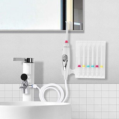 Faucet Oral Irrigator Water Jet Toothbrush Teeth Flosser Dental Irrigator Implements Care Water Jet Dental Flosser Tooth Cleaner