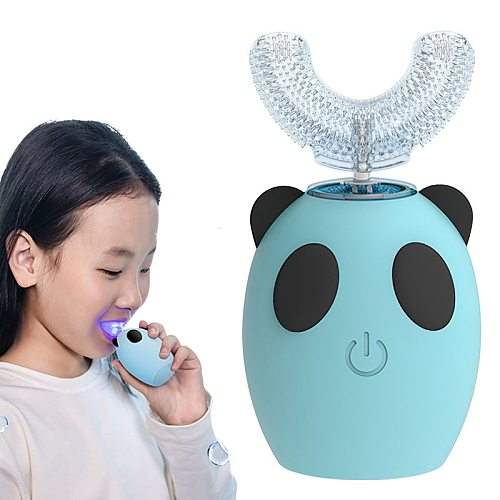 DIOZO U Shape 360 Degrees Kid Sonic Electric Toothbrush Rechargeable Children Teeth Care Waterproof Automatic Tooth Brush