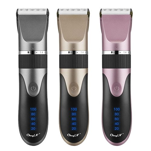 Professional Hair Trimmer Electric Men Hair Clipper Low Noise USB Rechargeable Haircut Ceramic Blade Barber Machine for Kids