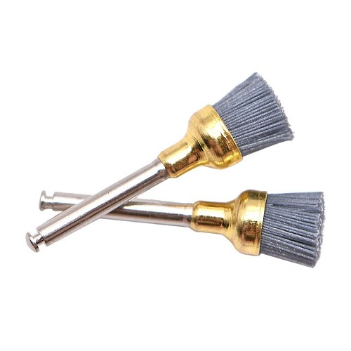 10Pcs Dental Polishing Brush Silicon carbide Material Latch Flat Bowl Teeth Polisher Prophy Brushes for Contra Angle Handpiece