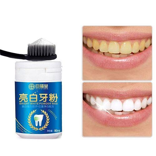 BGVfive 80ml Magic Natural Pearl Tooth Brushing Powder Physical Teeth Whitener Detoxifying Whitening Dental Oral Cleaner