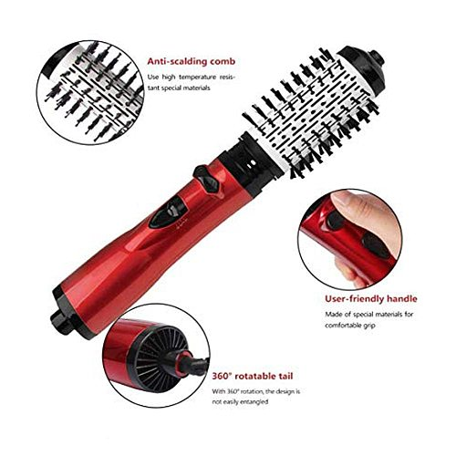 Multifunction Hot Hair Comb Hair Dryer and Volumizer Rotating Roller Brush Salon Hot Air Brush Styler Straightener Curler Comb