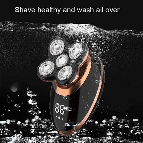 wet dry electric shaver for men beard hair trimmer electric razor rechargeable bald shaving machine LCD display grooming kit