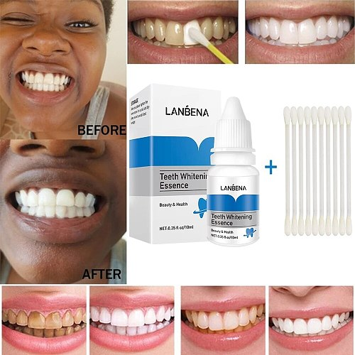 Teeth Whitening Essence Liquid Remove Plaque Stain Oral Hygiene Cleaning Brighten Tooth Whitening Toothpaste Dental Care
