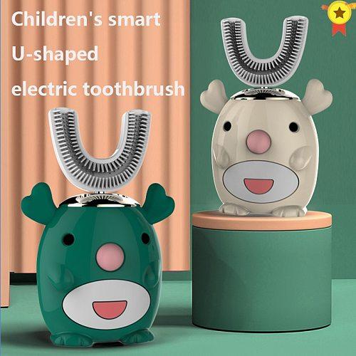 Smart 360 Degrees XaoMi U Electric Toothbrush Kids Silicon Automatic Ultrasonic Teeth Tooth Brush Cartoon Pattern Children