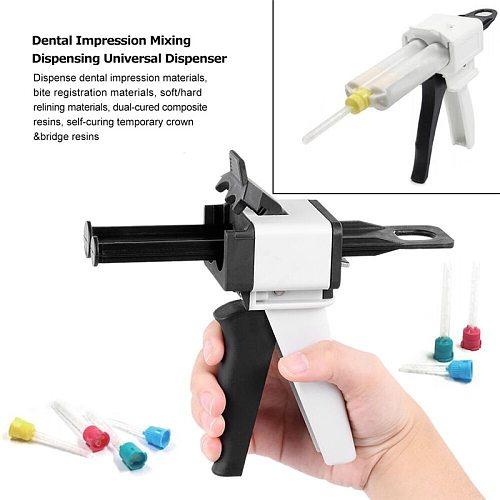 Dental Impression Mixing Dispensing Gun Universal Dispenser Gun 1:1 /1:2 Silicon Rubber Dispenser Gun 10:1 50ml Dentist Tools