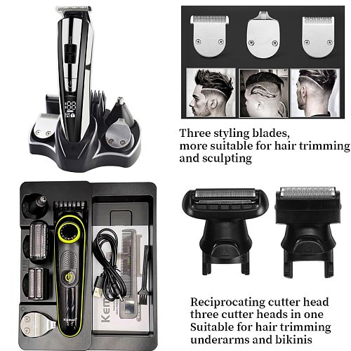 Electric hair clipper multifunctional trimmer for men electric shaver for men's razor Nose trimmer Kemei Hair cutting machine 5